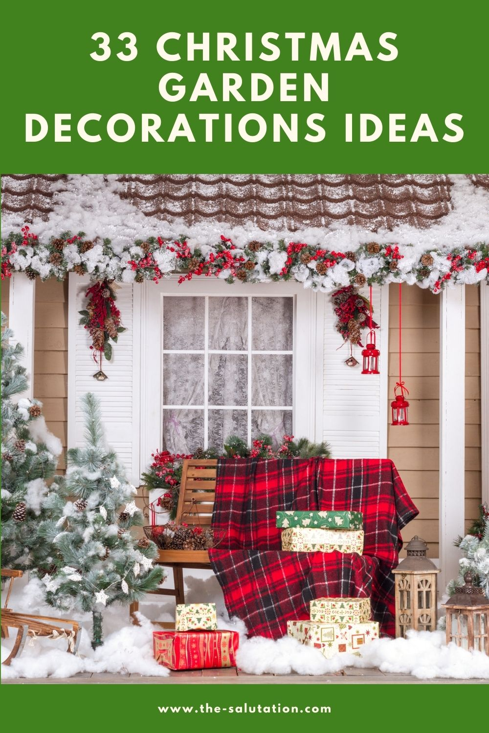 33 Christmas Garden Decorations Ideas 1