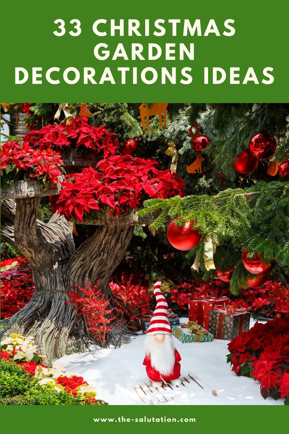 33 Christmas Garden Decorations Ideas 2