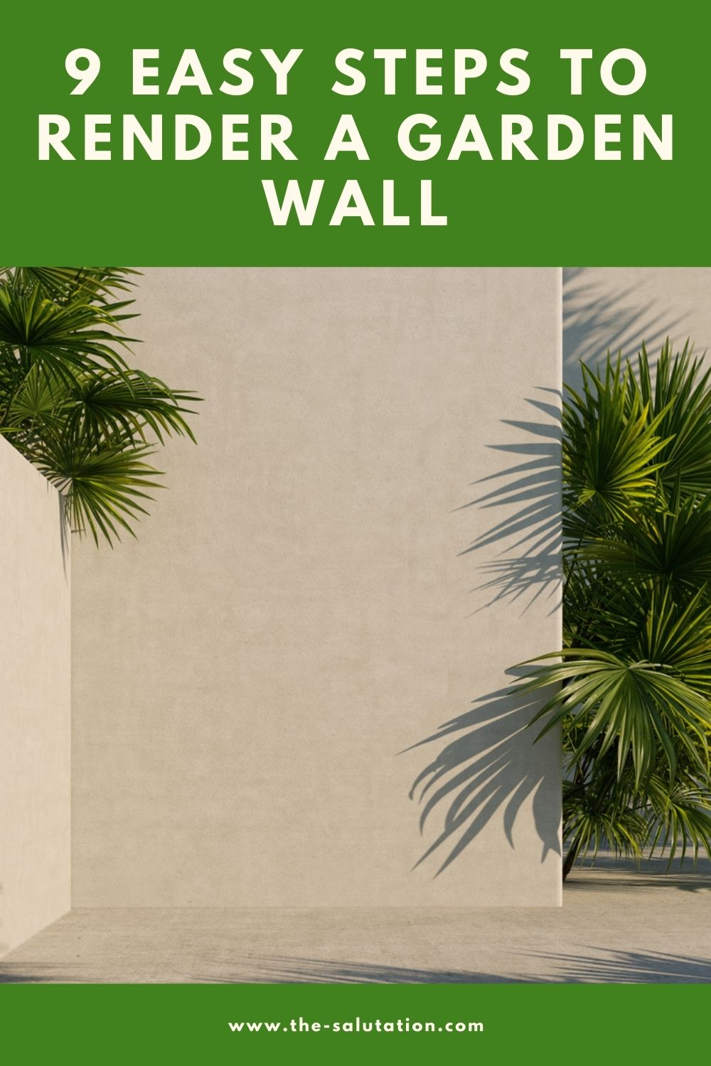 9 Easy Steps to Render a Garden Wall 1