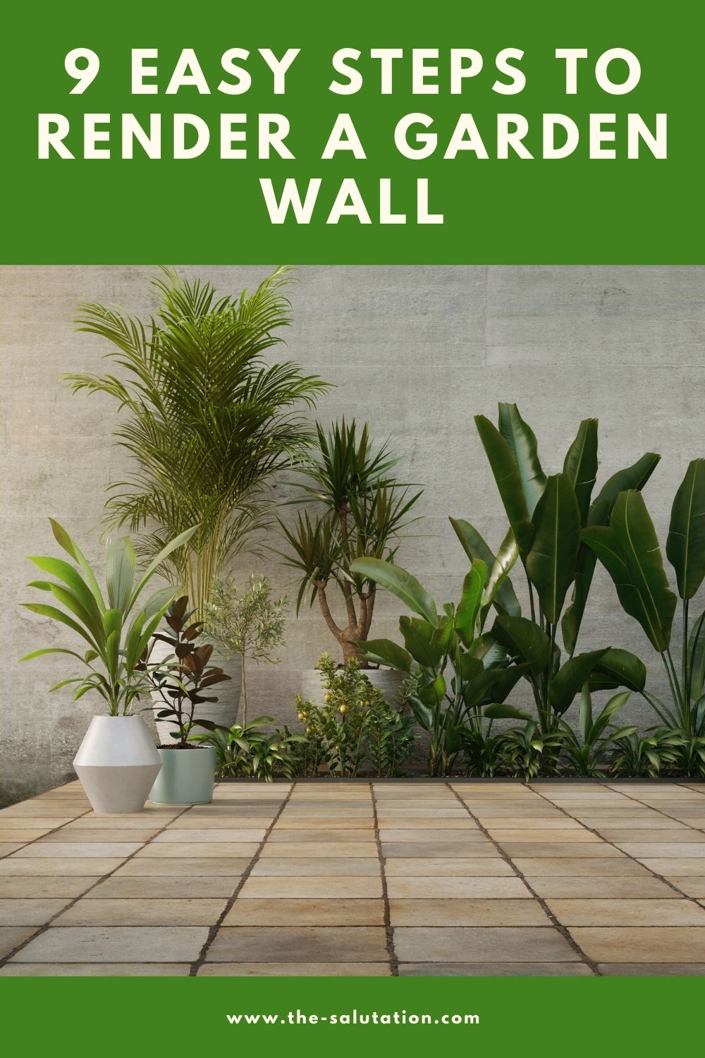 9 Easy Steps to Render a Garden Wall 2