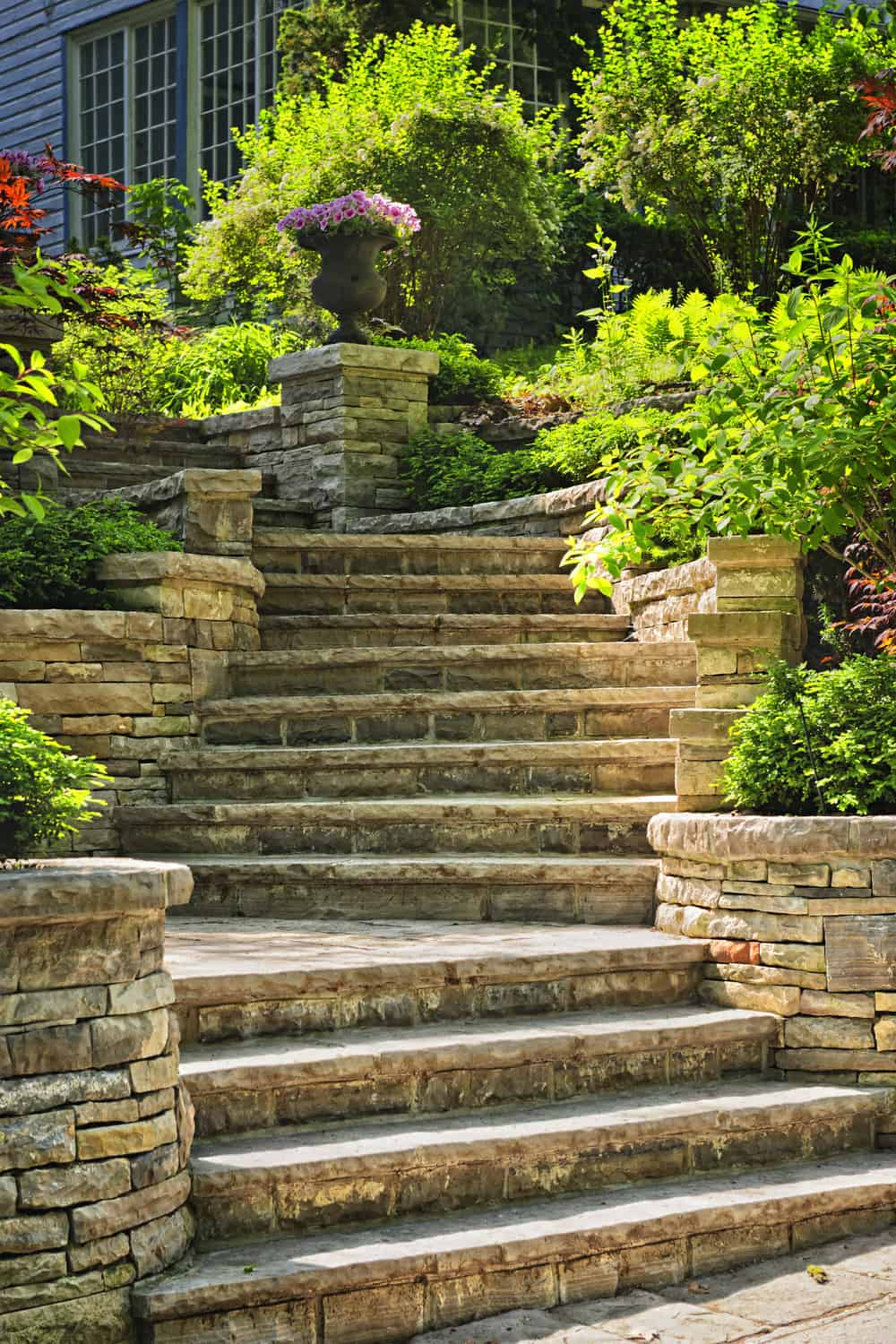 How do you want your garden steps to look