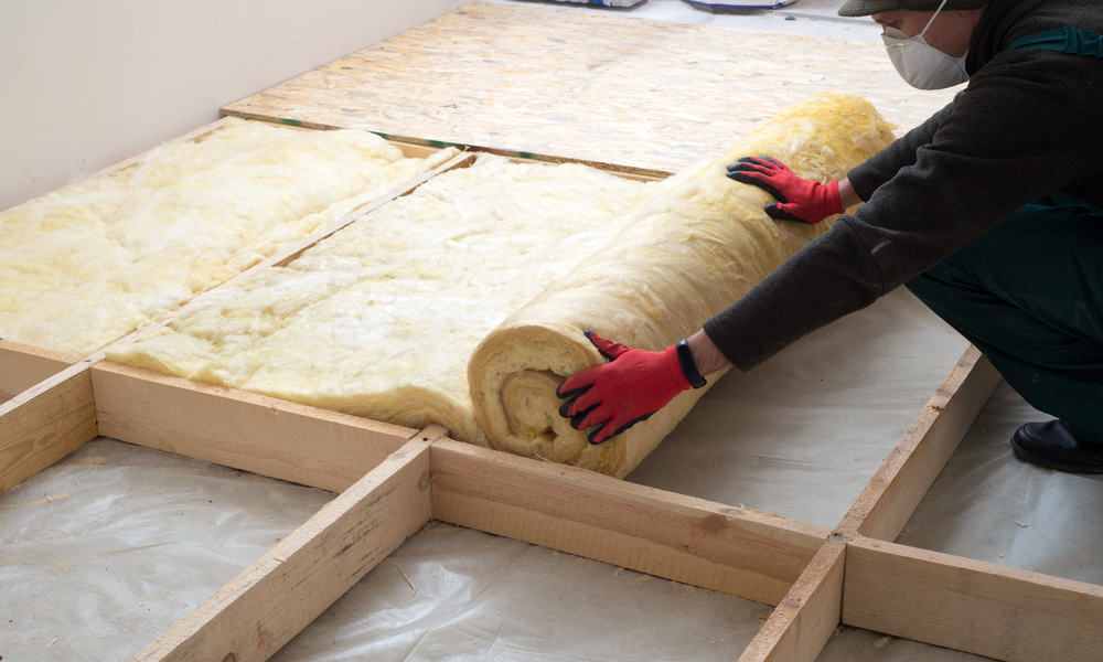 Insulate the garden shed floor