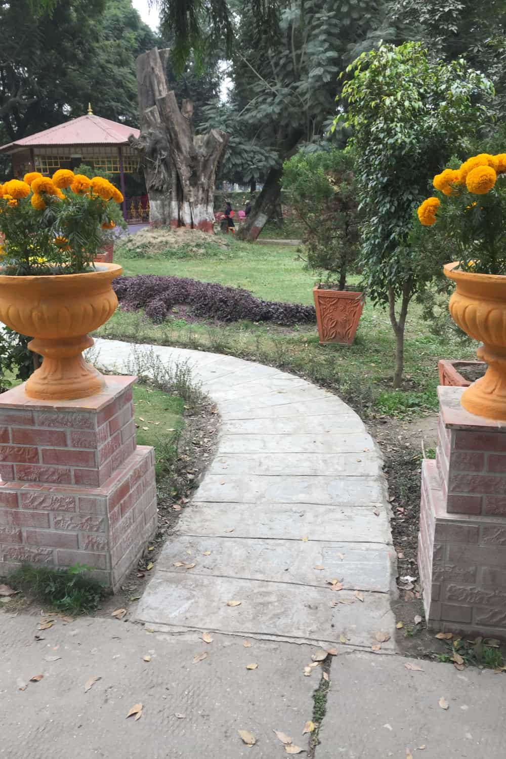 Pedestals and Flowers