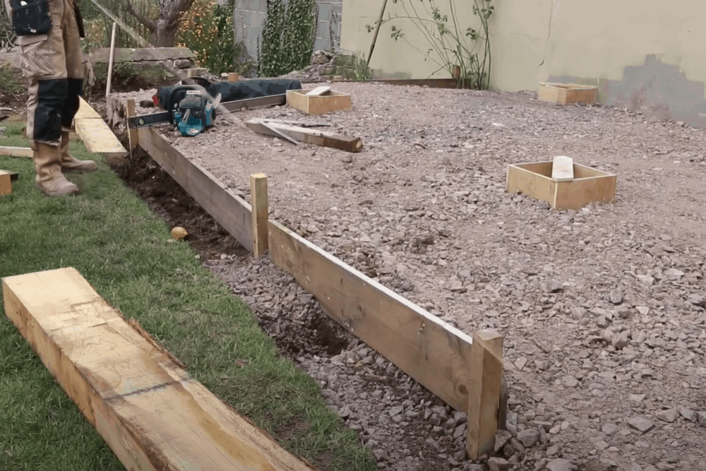 howto fit sleepers in garden