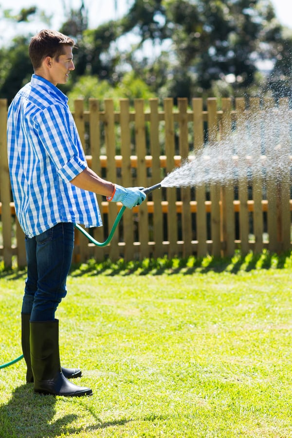 Combat dry patches with spot watering