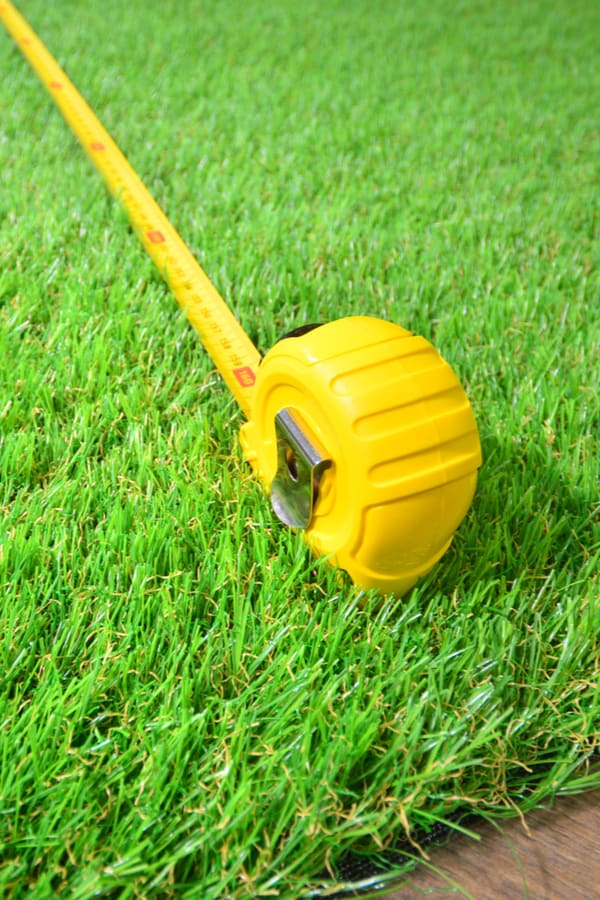 Working out the area of your lawn
